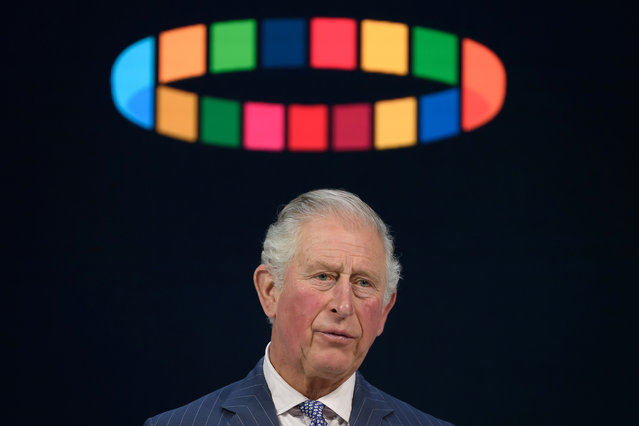 Britain's Prince Charles, Prince of Wales, delivers a speech at the World Economic Forum during the World Economic Forum (WEF) annual meeting in Davos, on January 22, 2020. (Photo by Fabrice Coffrini/AFP Photo)