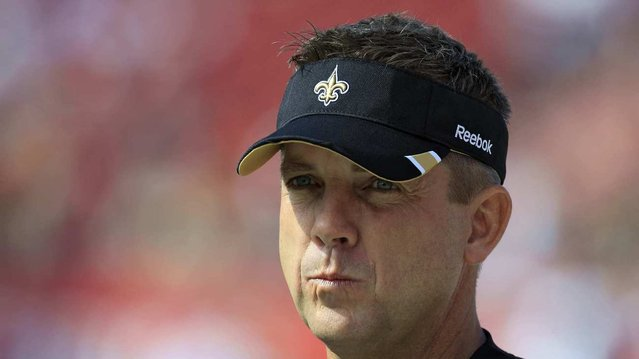 Saints Head Coach Sean Payton was suspended without pay for the entire 2012 season for his participation in the bounty program. (Chris O'Meara / Associated Press)