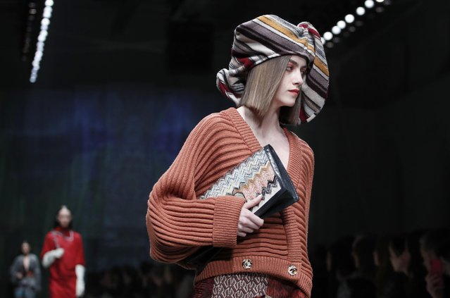 A model presents a creation from the Missoni Autumn/Winter 2020 collection during Milan Fashion Week in Milan, Italy, February 22, 2020. (Photo by Alessandro Garofalo/Reuters)