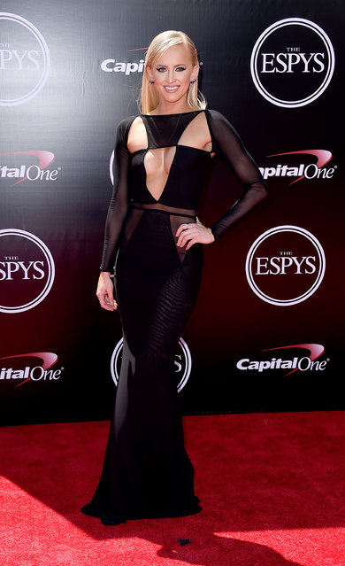 WWE wrestler Danielle Moinet arrives at the ESPY Awards at the Microsoft Theater on Wednesday, July 13, 2016, in Los Angeles. (Photo by Jordan Strauss/Invision/AP Photo)
