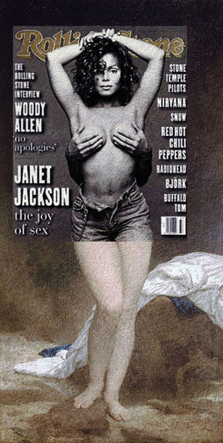 Quirky Magazine covers: Janet and Bather. (Photo by Eisen Bernard Bernardo/Caters News)