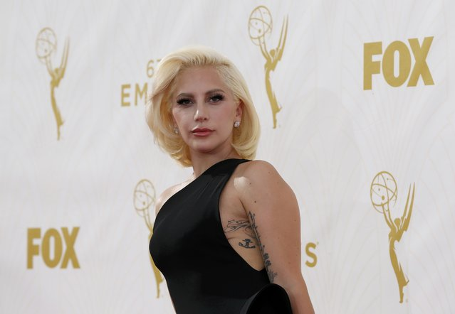 Singer Lady Gaga arrives at the 67th Primetime Emmy Awards in Los Angeles, California September 20, 2015. (Photo by Mario Anzuoni/Reuters)