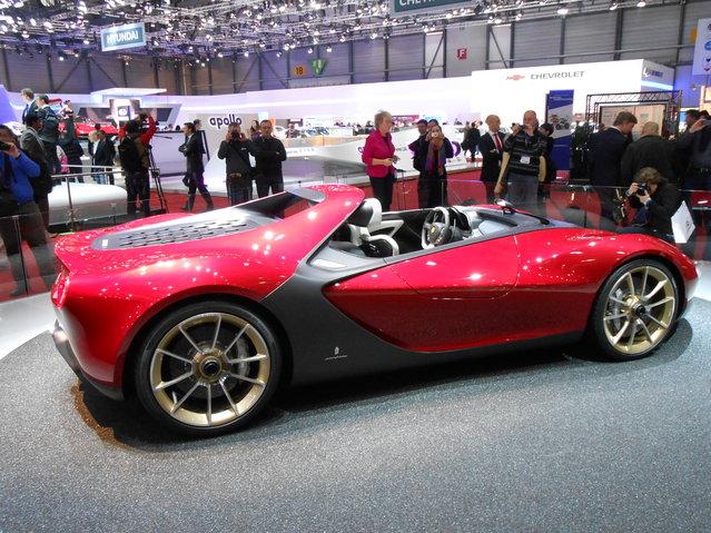 Pininfarina Sergio concept at 2013 Geneva Motor Show. (Photo by Luis Fernando Ramos/G1)