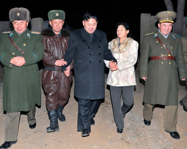 North Korean leader Kim Jong Un visits Unit 1017 of the Korean People's Army Air Force in an undisclosed location in this undated recent picture released by the North's KCNA in Pyongyang, on January 31, 2012. (Photo by Reuters/KCNA)