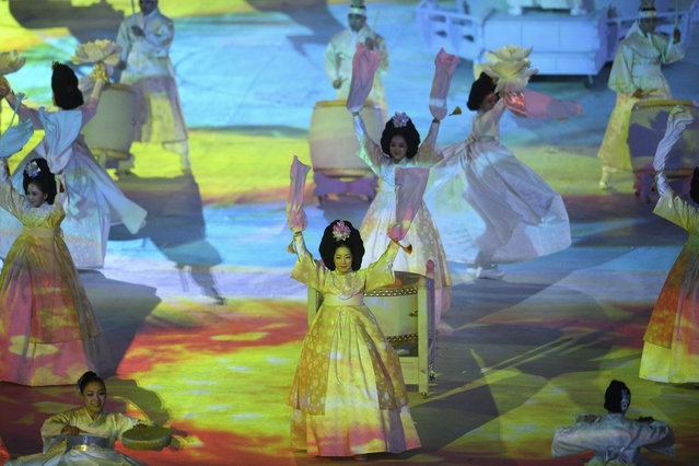 Artists perform during the Opening Ceremony for the XII Paralympic Winter Games in the PyeongChang Olympic Stadium, PyeongChang, South Korea, Friday, March, 9, 2018. (Photo by Joel Marklund/OIS/IOC via AP Photo)