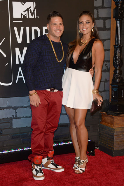 Ronnie Magro and Sammi Giancola attend the 2013 MTV Video Music Awards at the Barclays Center on August 25, 2013 in the Brooklyn borough of New York City. (Photo by Jamie McCarthy/Getty Images for MTV)
