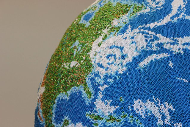 Giant Globe Made From Matches By Andy Yoder