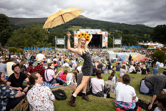 People enjoying the second day of the Greenman Festival in South Wales, Crickhowell, United Kingdom on August 20, 2021. (Photo by Chris Fairweather/Huw Evans/Rex Features/Shutterstock)