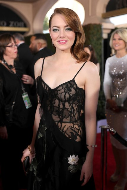Actor Emma Stone attends the 23rd Annual Screen Actors Guild Awards at The Shrine Expo Hall on January 29, 2017 in Los Angeles, California. (Photo by Neilson Barnard/Getty Images)