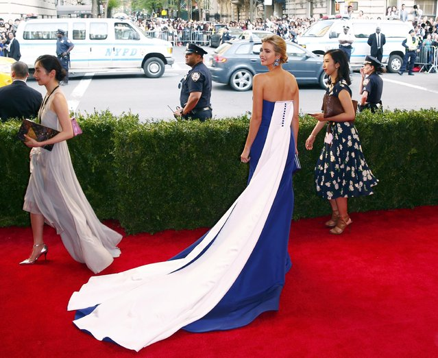 "Ivanka Trump arrives at the Metropolitan Museum of Art Costume Institute Gala 2015 celebrating the opening of ""China: Through the Looking Glass"" in Manhattan, New York May 4, 2015. (Photo by Lucas Jackson/Reuters)"