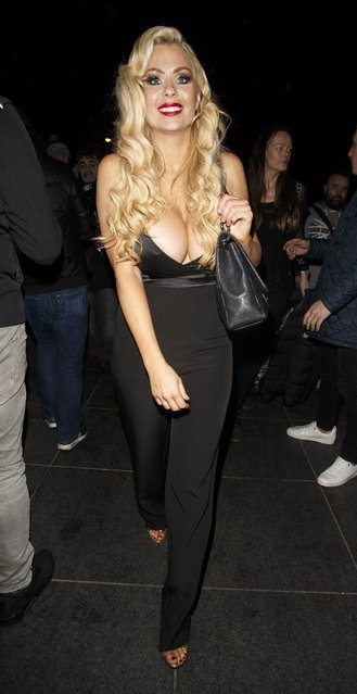 Nicola McLean during Celebrity Big Brother - Winter 2017 Live Final at Elstree Studios on February 03, 2017 in Hertfordshire, England. (Photo by FameFlynet)