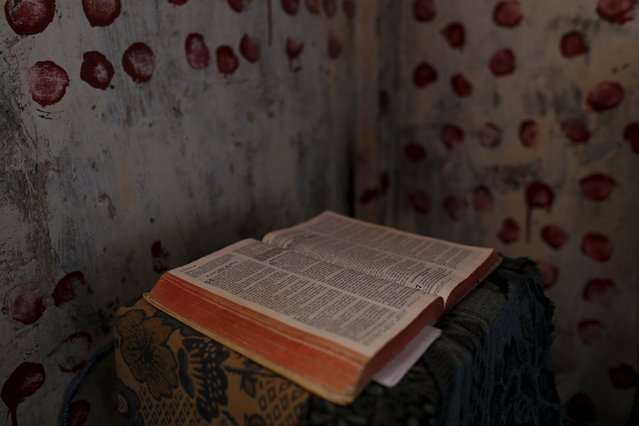 A Bible is seen at the transgender gallery in La Joya prison on the outskirts of Panama City, Panama January 29, 2016. (Photo by Carlos Jasso/Reuters)