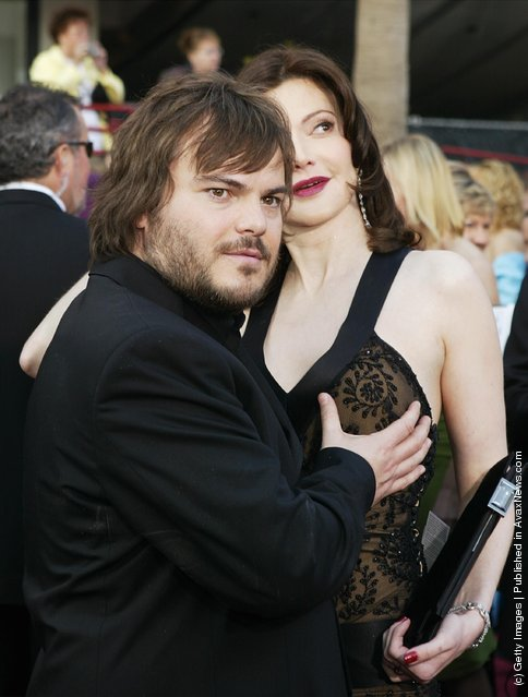 Actor Jack Black and his girlfriend Laura Kightlinger attend the 76th Annual Academy Awards at the Kodak Theater in Hollywood