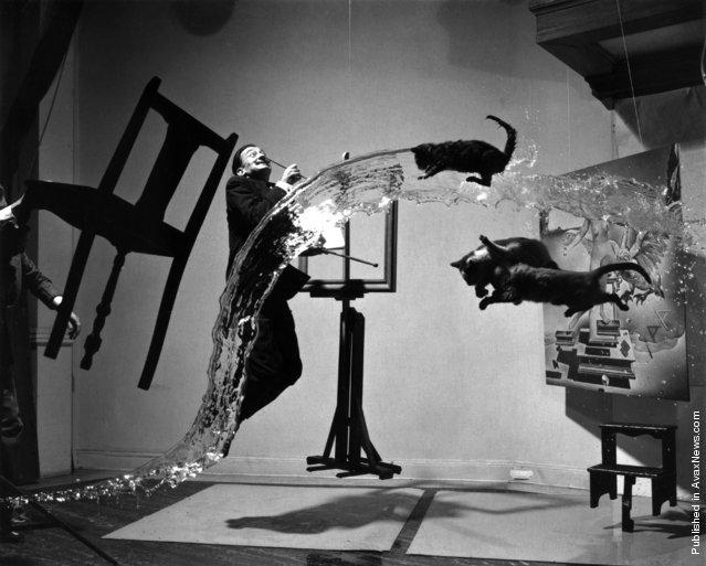 Salvador Dali 'Dali Atomicus', 1948. Photo by Philippe Halsman