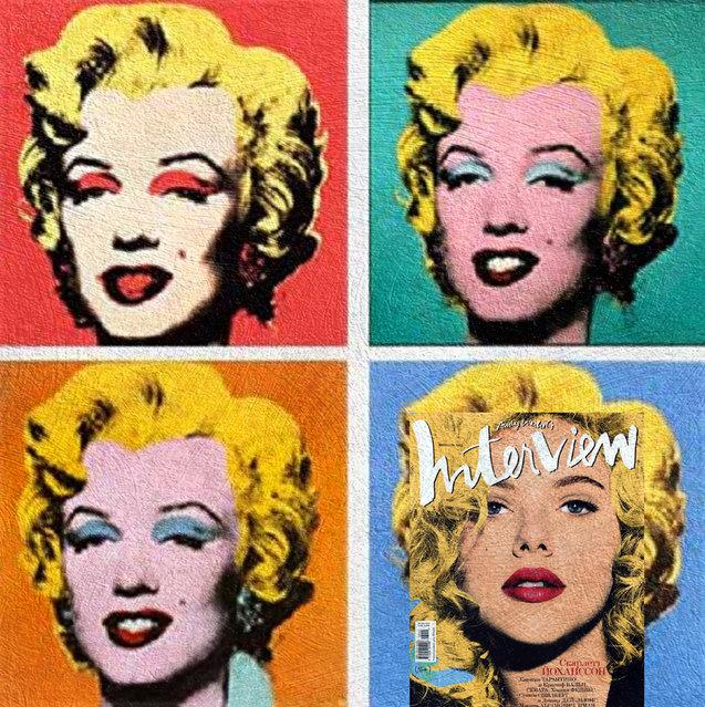 Quirky Magazine covers: Andy Warhol. (Photo by Eisen Bernard Bernardo/Caters News)