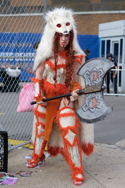 Carly Monsen, 31, an elementary teacher from Boston, is dressed as Mink The Satyr from 9 Tails PokÈmon during the 2017 New York Comic Con Day 3 on October 7, 2017 in New York City. (Photo by Gabriella Bass)