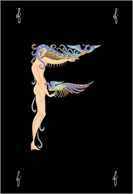 Romain de Tirtoff (Erte) – The Alphabet: Letter «F»