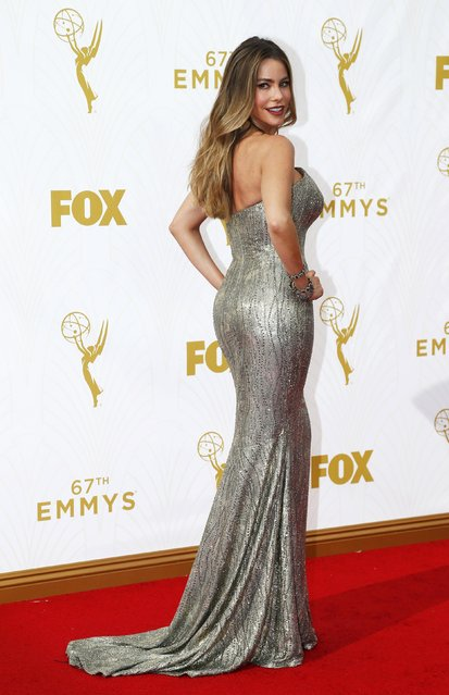 Actress Sofia Vergara arrives at the 67th Primetime Emmy Awards in Los Angeles, California September 20, 2015. (Photo by Mario Anzuoni/Reuters)