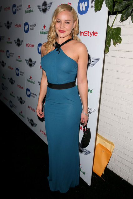 Actress Abbie Cornish arrives at the Warner Music Group 2013 Grammy Celebration Presented by Mini at the Chateau Marmont on February 10, 2013 in Los Angeles, California. (Photo by Joe Scarnici/Warner Music Group)