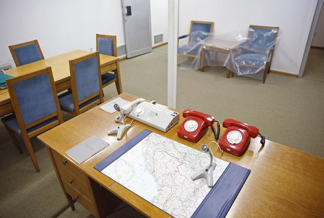 An office for meetings and coordination is seen in Josip Broz Tito's underground secret bunker (ARK) in Konjic, October 16, 2014. (Photo by Dado Ruvic/Reuters)