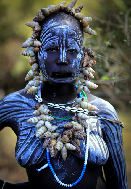 Ethiopia: Valley of the Omo, Mursi. (Claude Gourlay)