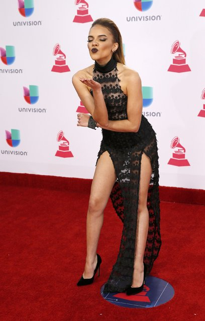Singer Leslie Grace arrives at the 17th Annual Latin Grammy Awards in Las Vegas, Nevada, U.S., November 17, 2016. (Photo by Steve Marcus/Reuters)