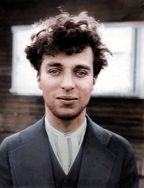 Charlie Chaplin at the age of 27, 1916. Colorized by BenAfleckIsAnOkActor on Reddit.