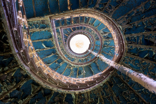 Watch your step on this Polish spiral staircase. (Photo by Roman Robroek/South West News Service)