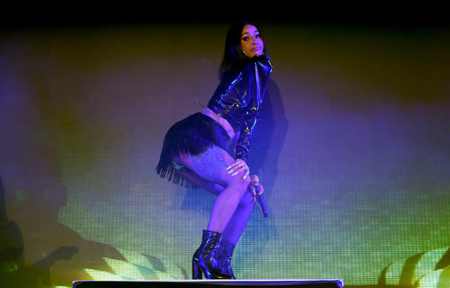 Cardi B performs onstage during Metro By T-Mobile Presents: Live In LA Powered By Pandora Featuring Cardi B And Jhené Aiko at Academy Nightclub on November 15, 2018 in Hollywood, California. (Photo by Joe Scarnici/Getty Images for Pandora Media Inc.)