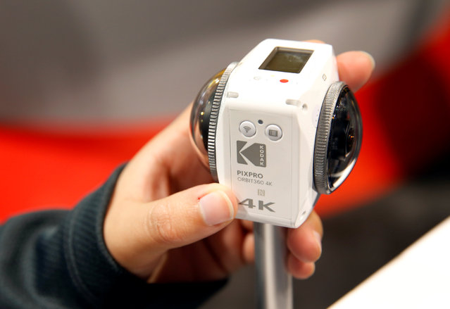 A Kodak Pixpro Orbit360 4K VR camera is displayed during the 2017 CES in Las Vegas, Nevada, U.S., January 6, 2017. The camera will be available in March or April and retail for about $500.00, a representative says. (Photo by Steve Marcus/Reuters)
