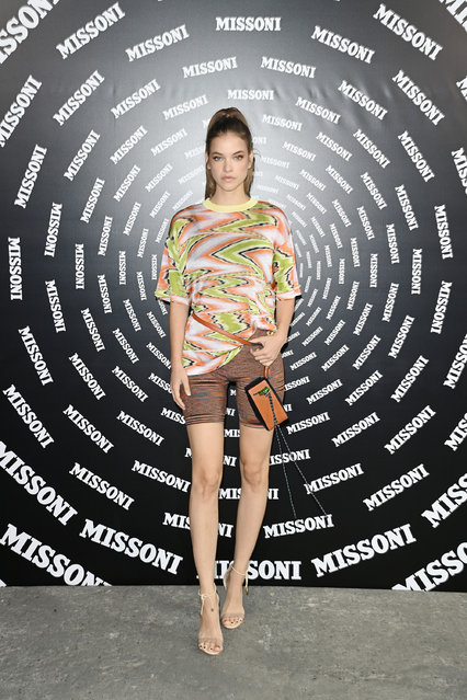 Hungarian model Barbara Palvin is seen on the front row of the Missoni fashion show during the Milan Fashion Week – Spring / Summer 2022 on September 24, 2021 in Milan, Italy. (Photo by Daniele Venturelli/Daniele Venturelli/WireImage )