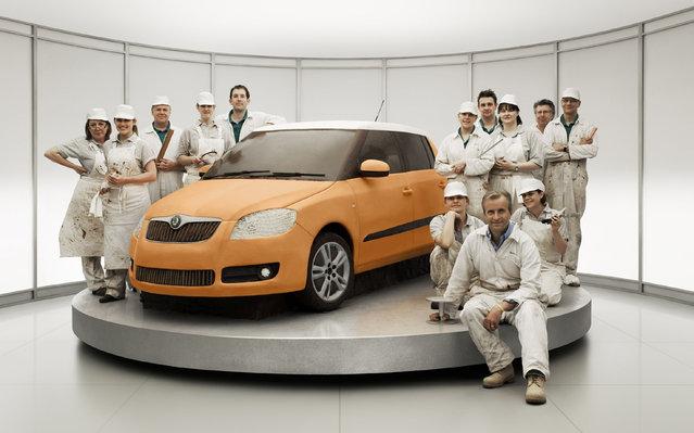 Skoda Fabia Advert - Original Cake Car