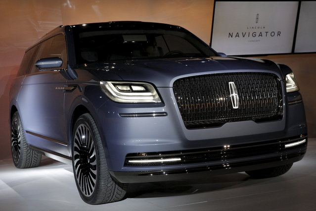 A Lincoln Navigator concept vehicle is displayed on the eve of the 2016 New York International Auto Show in New York City on March 23, 2016. (Photo by Brendan McDermid/Reuters)