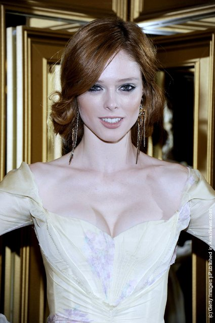 Coco Rocha attends the Versace for H&M Fashion event