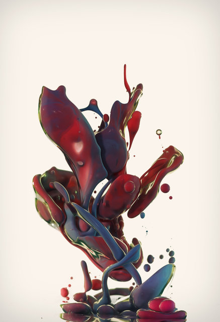 """""""Dropping"""" – Artist uses high-speed photography to capture the beauty of ink and oil. (Photo by Alberto Seveso)"""