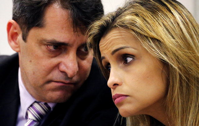 Civil Police Chief Fernando Veloso (L) and Police Chief for crimes against minors Cristiana Honorato attend a news conference on the investigations on the gang rape of a teenage girl after a video of the assault circulated widely on social media in Rio de Janeiro, Brazil, May 30, 2016. (Photo by Sergio Moraes/Reuters)