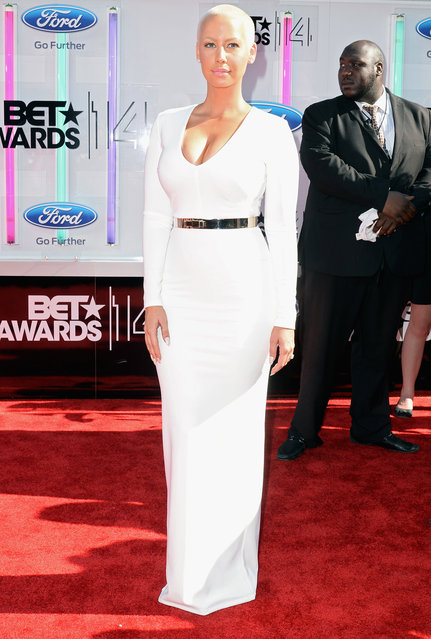 Amber Rose attends the BET AWARDS '14 at Nokia Theatre L.A. LIVE on June 29, 2014 in Los Angeles, California. (Photo by Earl Gibson III/Getty Images for BET)