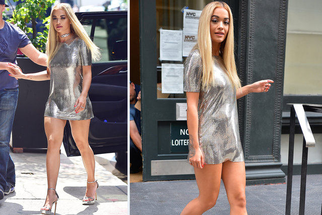 Rita Ora is seen in Soho on July 14, 2016 in New York City. (Photo by Alo Ceballos/GC Images)