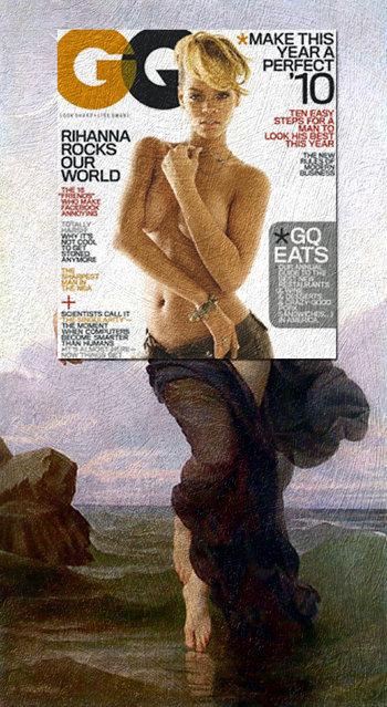 Quirky Magazine covers: Rihanna and GQ. (Photo by Eisen Bernard Bernardo/Caters News)