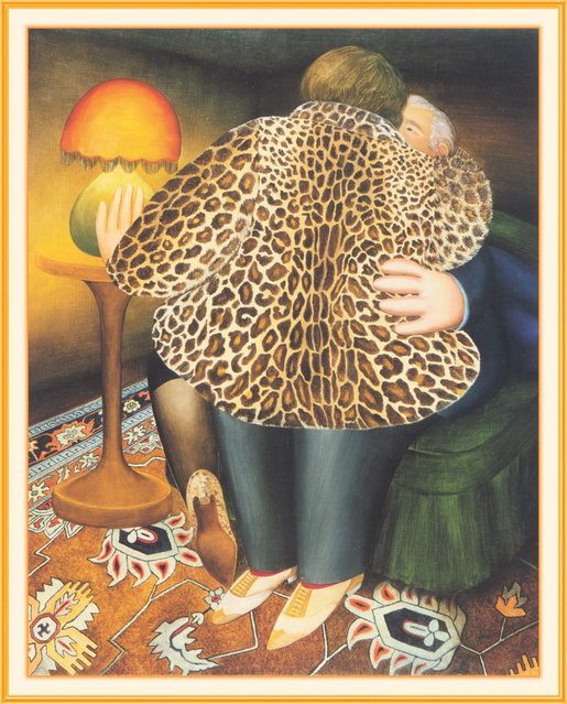 The Leopardskin Coat. Artwork by Beryl Cook
