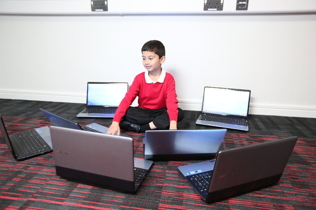 A computer genius has become the worlds youngest Microsoft Certified Professional (MCP) at just five years old. Gifted Ayan Qureshi now six passed the exam when he was five years and 11 months old, smashing the previous record of six and a half. The test is normally taken by adults after the graduate from university, and invigilators were so shocked at Ayans age they initially stopped him from sitting the exam. (Photo by Caters News)