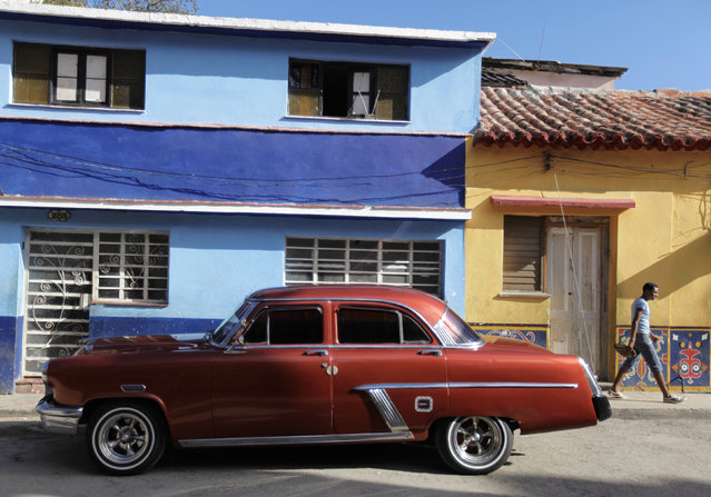 A 1942 Mercury car is parked on a street in Central Havana, March 8, 2010. (Photo by Desmond Boylan/Reuters)