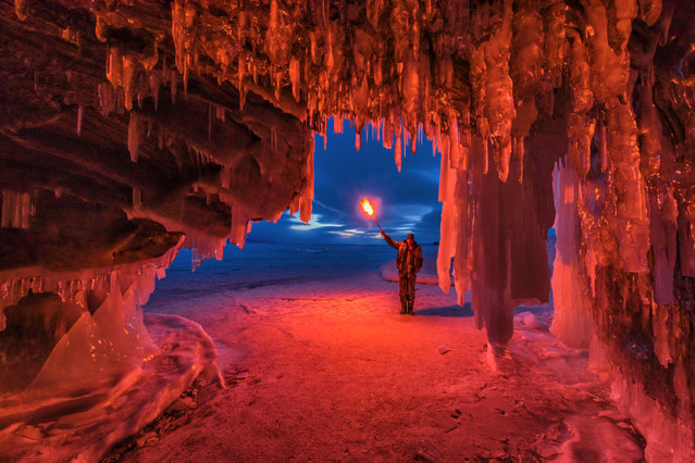 """""""Baikal is one of the world's pearls"""". (Photo by Vladimir Ryabkov/Caters News Agency)"""