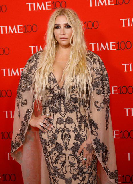Singer Kesha arrives for the 2018 Time 100 Gala at Frederick P. Rose Hall, Jazz at Lincoln Center on April 24, 2018 in New York City. (Photo by Shannon Stapleton/Reuters)