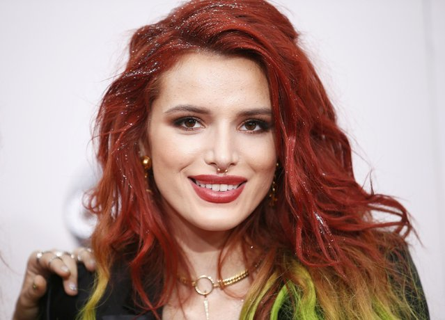 Actress Bella Thorne arrives at the 2016 American Music Awards in Los Angeles, California, U.S., November 20, 2016. (Photo by Danny Moloshok/Reuters)