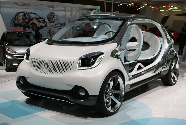 A Smart Fourjoy is pictured during the press day at the International Motor Show IAA, on September 7, 2013. (Photo by Maik Boenisch/Demotix)