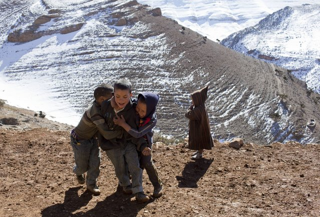 Children play in Ait Sghir village in the High Atlas region of Morocco February 14, 2015. (Photo by Youssef Boudlal/Reuters)