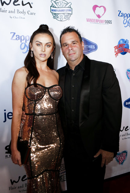 Lala Kent and Randall Emmett arrive at the 3rd Annual Vanderpump Dog Foundation Gala at Taglyan Cultural Complex on November 15, 2018 in Hollywood, California. (Photo by Aude Guerrucci/Getty Images)