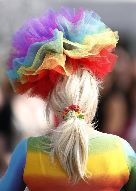 Horse Racing – Crabbie's Grand National Festival – Aintree Racecourse April 10, 2015: A Racegoer at the Grand National Festival on ladies day. (Photo by Andrew Boyers/Reuters)