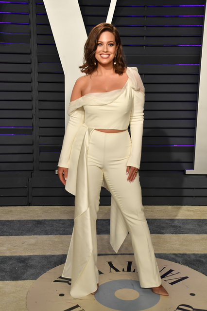 Ashley Graham attends the 2019 Vanity Fair Oscar Party hosted by Radhika Jones at Wallis Annenberg Center for the Performing Arts on February 24, 2019 in Beverly Hills, California. (Photo by George Pimentel/Getty Images)